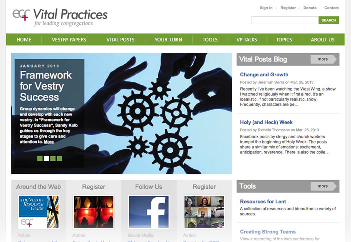 ECF Vital Practices Website
